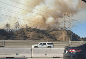 brush fire los angeles